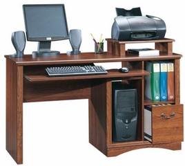 Camden County Computer Desk Planked Cherry - Sauder Furniture - 101730