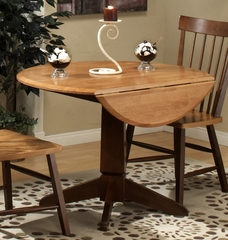 Camden Round Dining Table with Drop Leaf - Entree by APA Marketing - CAM-4242