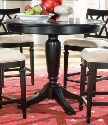 Camden Round Table in Black - Lea American Drew - 919-701R