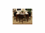 Cameo Counter Height Table Set with 6 Stools - American Hertiage - AH-713270