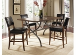 Cameron 5-Piece Counter Height Rectangle Wood Dining Set with Parson Stools - Hillsdale Furniture - 4671CTBRS4