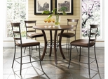 Cameron 5-Piece Counter Height Round Wood Dining Set with Ladder Back Stools - Hillsdale Furniture - 4671CTBWS5