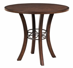 Cameron 5-Piece Counter Height Round Wood Dining Set with Parson Stools - Hillsdale Furniture - 4671CTBWS4