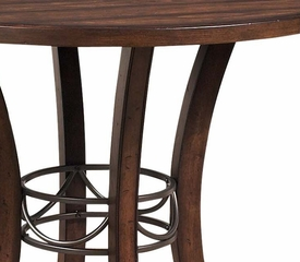 Cameron 5-Piece Counter Height Round Wood Dining Set with X Back Stools - Hillsdale Furniture - 4671CTBWS2