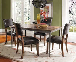 Cameron 5-Piece Rectangle Dining Set with Parson Chairs - Hillsdale Furniture - 4671DTBRC4