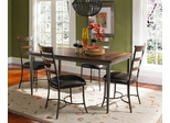 Cameron 5-Piece Rectangle Wood Dining Set with Ladder Back Chairs - Hillsdale Furniture - 4671DTBRC5