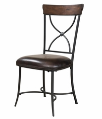 Cameron 5-Piece Round Wood and Metal Dining Set with X Back Chairs - Hillsdale Furniture - 4671DTBC2