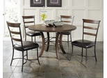 Cameron 5-Piece Round Wood Dining Set with Ladder Back Chairs - Hillsdale Furniture - 4671DTBWC5