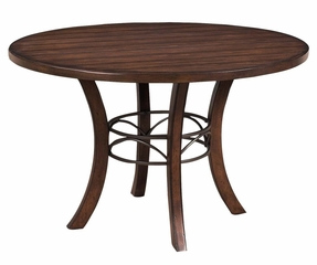 Cameron 5-Piece Round Wood Dining Set with X Back Chairs - Hillsdale Furniture - 4671DTBWC2