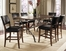 Cameron 7-Piece Counter Height Rectangle Wood Dining Set with Parson Stools - Hillsdale Furniture - 4671CTBRS47