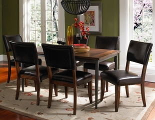 Cameron 7-Piece Rectangle Dining Set with Parson Chairs - Hillsdale Furniture - 4671DTBRC47