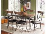 Cameron 7-Piece Rectangle Dining Set with X Back Chairs - Hillsdale Furniture - 4671DTBRC27