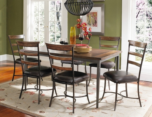 Cameron 7-Piece Rectangle Wood Dining Set with Ladder Back Chairs - Hillsdale Furniture - 4671DTBRC57