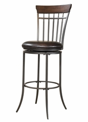 Cameron Swivel (Vertical Spindle Back) Counter Stool - Hillsdale Furniture - 4671-827