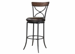 Cameron Swivel (X-Back) Bar Stool - Hillsdale Furniture - 4671-830