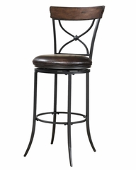 Cameron Swivel (X-Back) Counter Stool - Hillsdale Furniture - 4671-826