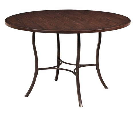 Cameron Wood and Metal Round Dining Table - Hillsdale Furniture - 4671DTB