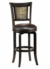 Camille Swivel Counter Stool with Etched Back - Hillsdale Furniture - 4861-826S