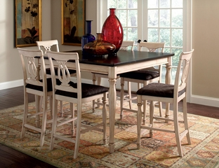 Camille Transitional 7 Piece Counter Height Dining Set - 103588