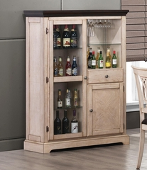 Camille Transitional Bar Curio Cabinet - 103584