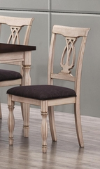 Camille Transitional White Ash Chair - Set of 2 - 103582