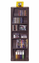 Canoe 231CD or 115 DVD Blu-Ray or Games Wood Look Cabinet in Espresso - Atlantic - 22535717
