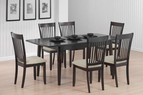 Cappuccino 7 Piece Dining Table & Chair Set  - 103721