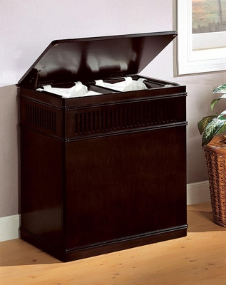 Cappuccino Wood Laundry Hamper - 900159