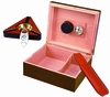 Capri Cigar Humidor Starter Kit in Mahogany - HUM-25KIT