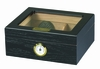 Capri Cigar Humidor with Glass Top - HUM-25BLK