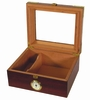 Capri Elegant Cigar Humidor in Macintosh Oak with Walnut - HUM-25EL