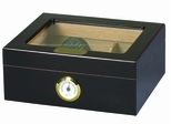 Capri Glass Top Cigar Humidor - HUM-25HYG-Glasstop