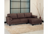 Capri Microsuede Sectional in Dark Brown - Abbyson Living - CI-1195-BRN