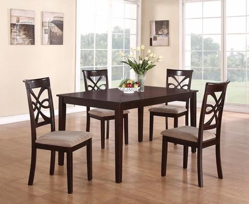 Cara 5 Piece Table Set in Dark cherry - 150441
