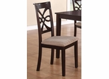 Cara Dining Chair in Dark Cherry - Set of 2 - 150442