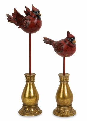 Cardinals with Mosaic Wings (Set of 2) - IMAX - 59149-2