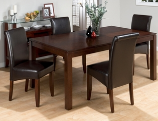 Carlsbad Cherry Dining Table with 4 Chestnut Chairs - 888-73