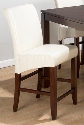 Carlsbad Cherry Ivory Bonded Leather Stool - Set of 2 - 888-BS486KD