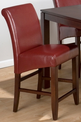 Carlsbad Cherry Red Bonded Leather Stool - Set of 2 - 888-BS487KD