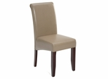 Carlsbad Cherry Sandstone Bonded Leather Chair - Set of 2 - 888-483KD