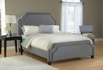 Carlyle King Size Fabric Bed - Hillsdale Furniture - 1638BKRC