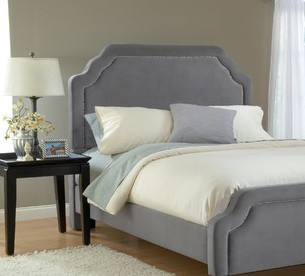 Carlyle King Size Fabric Headboard with Frame - Hillsdale Furniture - 1638HKRC