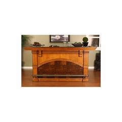 "Carmella 88"" Home Bar in Chardonnay - American Hertiage - AH-600038CD-SS-RF"
