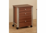 Carmen Mobile File Cart in Walnut - 801044