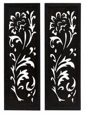Carolina Pierced Metal Wall Decor (Set of 2) - IMAX - 12328-2