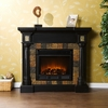 Carrington Convertible Black Electric Fireplace - Holly and Martin