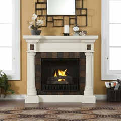 Carrington Convertible Ivory Gel Fireplace - Holly and Martin