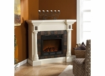 Carrington Faux Slate Convertible Ivory Electric Fireplace - Holly and Martin