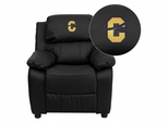 Carroll College Saints Embroidered Black Leather Kids Recliner - BT-7985-KID-BK-LEA-41016-EMB-GG