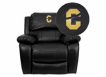Carroll College Saints Leather Rocker Recliner - MEN-DA3439-91-BK-41016-EMB-GG